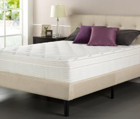 Sleep Master iCoil 13 Inch Deluxe Euro Box Top Spring Mattress, Queen